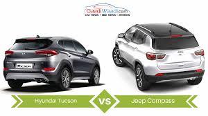 jeep compass vs hyundai tucson specs comparison