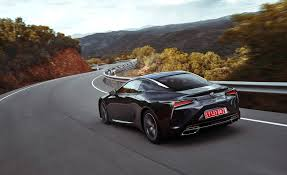 black lexus 2018 lexus lc 500 black test drive rear corner gallery photo 63