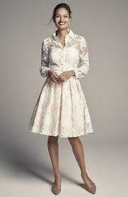 eliza j mixed lace u0026 taffeta point collar fit u0026 flare dress