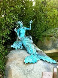 statue with mermaid living statue with a gorgeous patina www