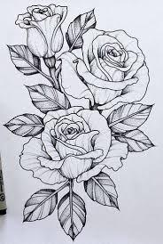 Tattoo Flower Drawings   flower tattoo design visit artskillus ru for more tattoo ideas