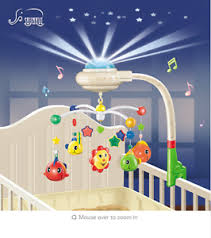 baby musical crib mobile bed bell toys plastic hanging rattles toy
