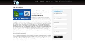 convert html to wordpress theme hire top conversion service
