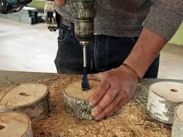 make a table lamp using a birch wood log danmade watch dan