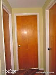 Interior Door Stain Return Of Light Weekend Update Modernizing Interior Doors With