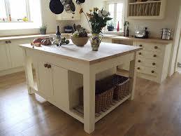 freestanding kitchen island with double cupboards breakfast bar
