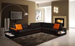 canapé d angle contemporain deco in canape d angle contemporain noir et orange light