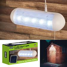 Solar Shed Light by Solar Powered 5 Led Shed Light Bright White Water Resistant