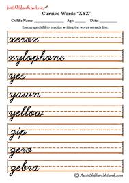 tracing cursive letters worksheets xyz z pinterest cursive