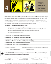 worksheet to teach the fourth of the 10 commandments work for 6