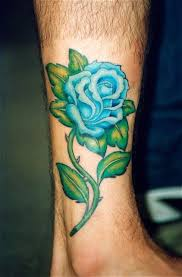beautiful blue rose queen tattoo on forearm tattoomagz