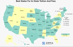 Alaska On The Map by 10 Best States For In State Tuition Costs Zippia