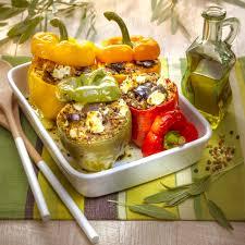 recette de cuisine professionnel poivrons farcis au quinoa aubergine et fêta recettes du soleil