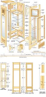 curio display cabinet plans mission curio clock woodworking plans woodshop plans