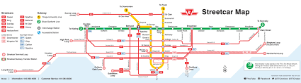 Toronto Canada Map by Toronto Streetcar Map