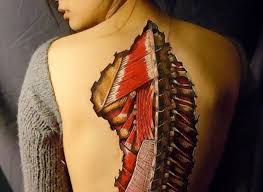 Anatomy Halloween Costumes Danny Quirk U0027s Body Art Creep Good Photos