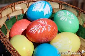 Easter Egg To Decorate by How To Dye Easter Eggs With Leaf Imprints Roxy U0027s Kitchen