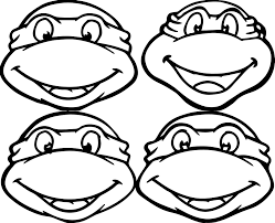 printable teenage mutant ninja turtles cartoon coloring pages for