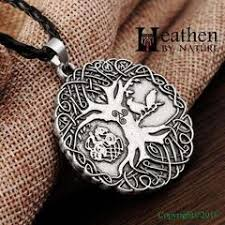 viking necklace wolf tree of silver heathen by