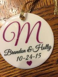 newlywed reindeer ornament personalized ornament