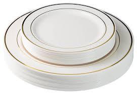 thanksgiving china sets amazon com exquisite 40 pack gold ovals design plastic plates