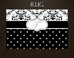 Black Polka Dot Rug Black And White Area Rug Black And White Damask Rug White And