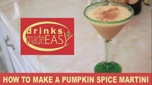 pumpkin martini recipe how to make a holiday pumpkin spice martini drinks made easy youtube