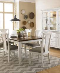 edgewater white 9 pc dining table set 6 side chairs u0026 2 arm