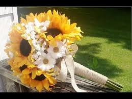 sunflower wedding bouquet sunflower and burlap wedding bouquets