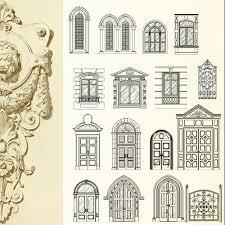 ornamental door window bundle cad blocks drawings