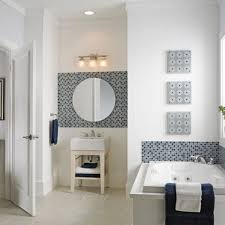 Bathroom Vanity Mirror With Lights White Finish Stained Wooden - Floor to ceiling bathroom vanity