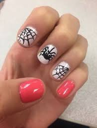glow in the dark halloween design nails nail art done by me and