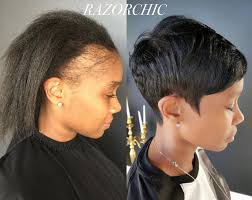 short hair styles for women with alopecia i feel so bad for women who ruin their edges with protective