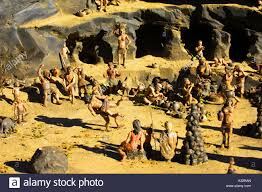 model village models figures tiny small people ancient cavemen man