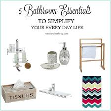 How To Simplify Your Home by 6 Bathroom Essentials To Simplify Your Every Day Life