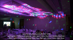 party lights rental wedding dj lighting led effect lights at fairmont pacific