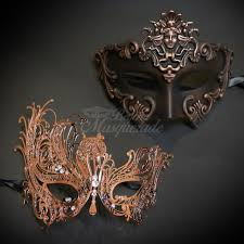 venetian masquerade mask his hers venetian masquerade mask gold themed mask