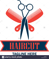 barber shop logo with text space for your slogan tagline vector
