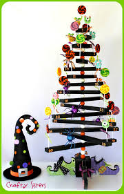 Halloween Ornament Tree by Crafty Sisters Halloween Lollipop Tree Tutorial Wyltc