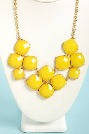 orange statement necklace images Pretty yellow necklace bib necklace statement necklace 16 00 jpg