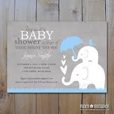 elephant baby shower invitation afoodaffair me