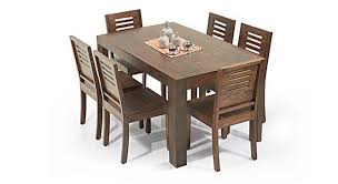 6 seater dining table and chairs arabia capra 6 seater dining table set urban ladder