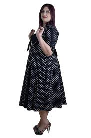 amazon com skelapparel plus size 50 u0027s retro design polka dot