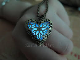 blue heart necklace jewelry images Free shipping blue the heart of atlantis glowing necklace