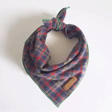 scottish plaid dog bandana from coco and pistachio navi