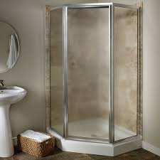 Angled Shower Doors Custom Frameless Neo Angle Shower Door American Standard