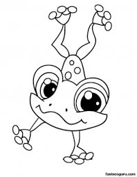 printable littlest pet shop coloring frog printable