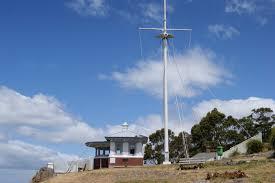 Tasmania Flag On The Convict Trail Mt Nelson Signal Station