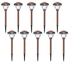 Landscape Path Light Energizer 10 Pc Solar Landscape Path Light Set Page 1 Qvc