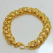 gold man bracelet images Latest popular mens bracelets gold plated over three package jpg